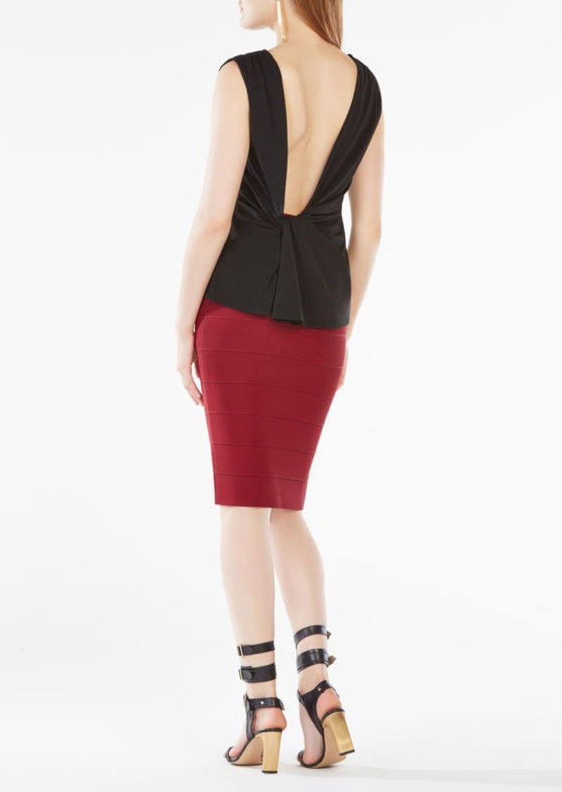 BCBG Thera Open-Back Jersey Top