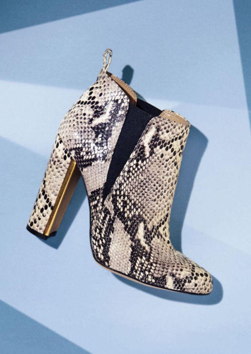 BCBG Tilly High-Heel Snake Embossed Leather Bootie