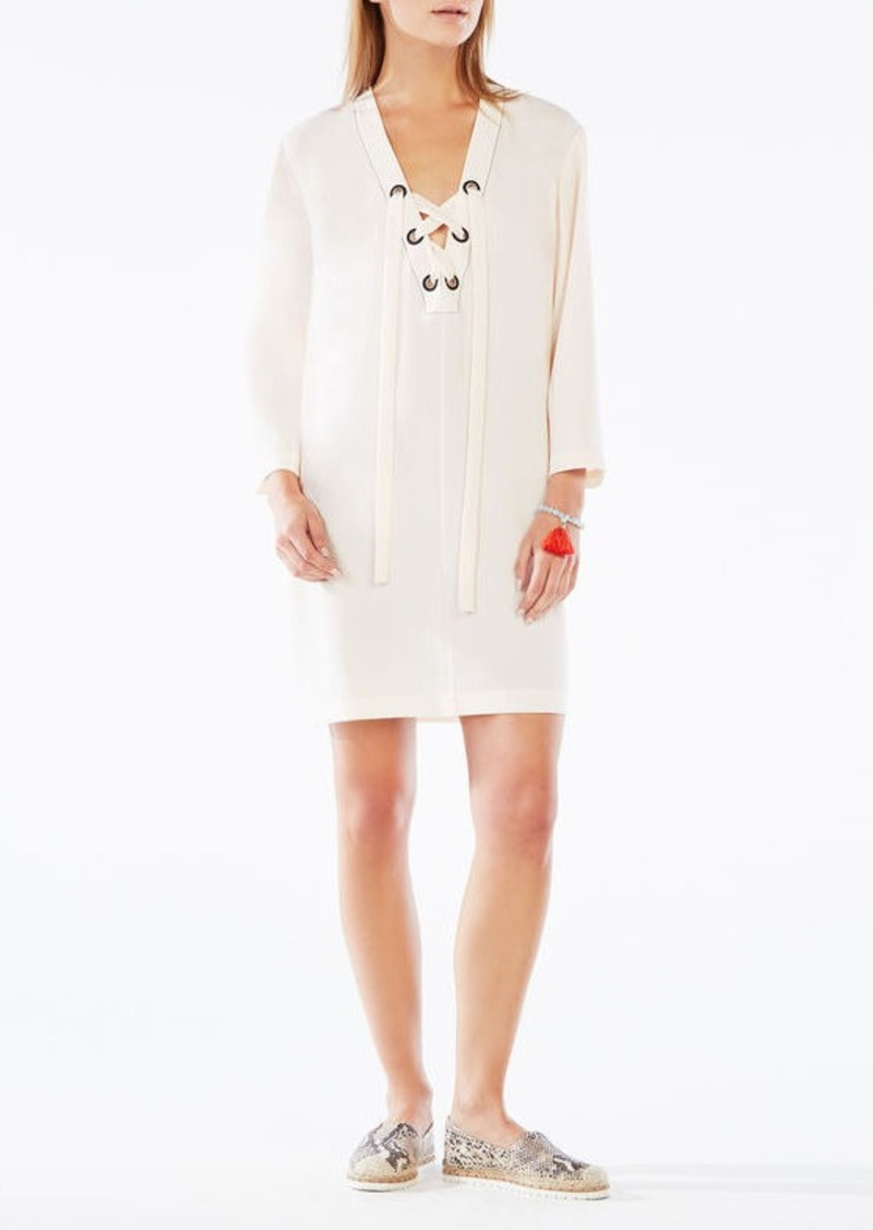BCBG Tonya Lace-Up Tunic Dress