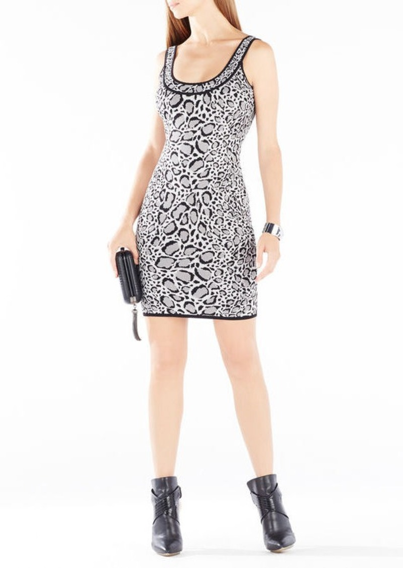 BCBG Tory Ocelot Jacquard Body-Con Dress