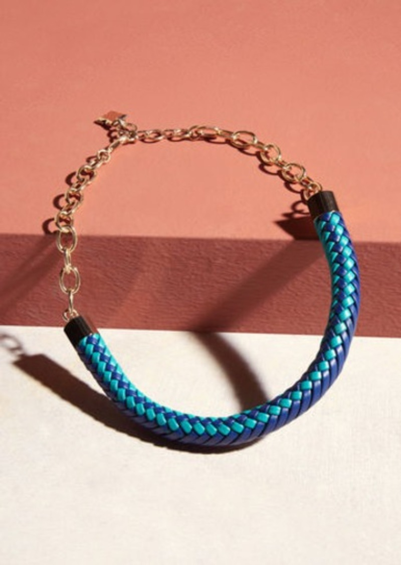 BCBG Tribal Braided Chain Necklace