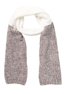 BCBG Two-Tone Cable Knit Scarf
