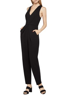 BCBG V-Neck Tie-Back Jumpsuit
