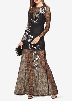 Veira Floral Applique Lace Gown