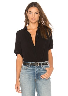 BCBG Wrap Hem Dolman Sleeve Shirt In Black