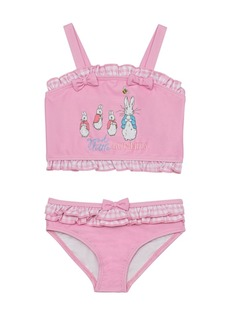 Beatrix Potter Baby Girls Gingham Print Shirred Top Two Piece Swimsuit