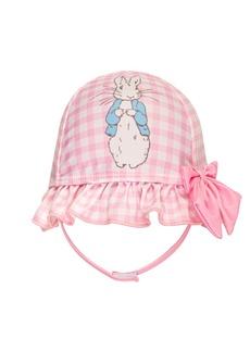 Beatrix Potter Baby Girls Gingham Print Sun Hat