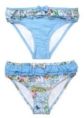 Beatrix Potter Baby Girls Scrapbook Print Frilled Nappy Swimsuit Bottom - Set of 2