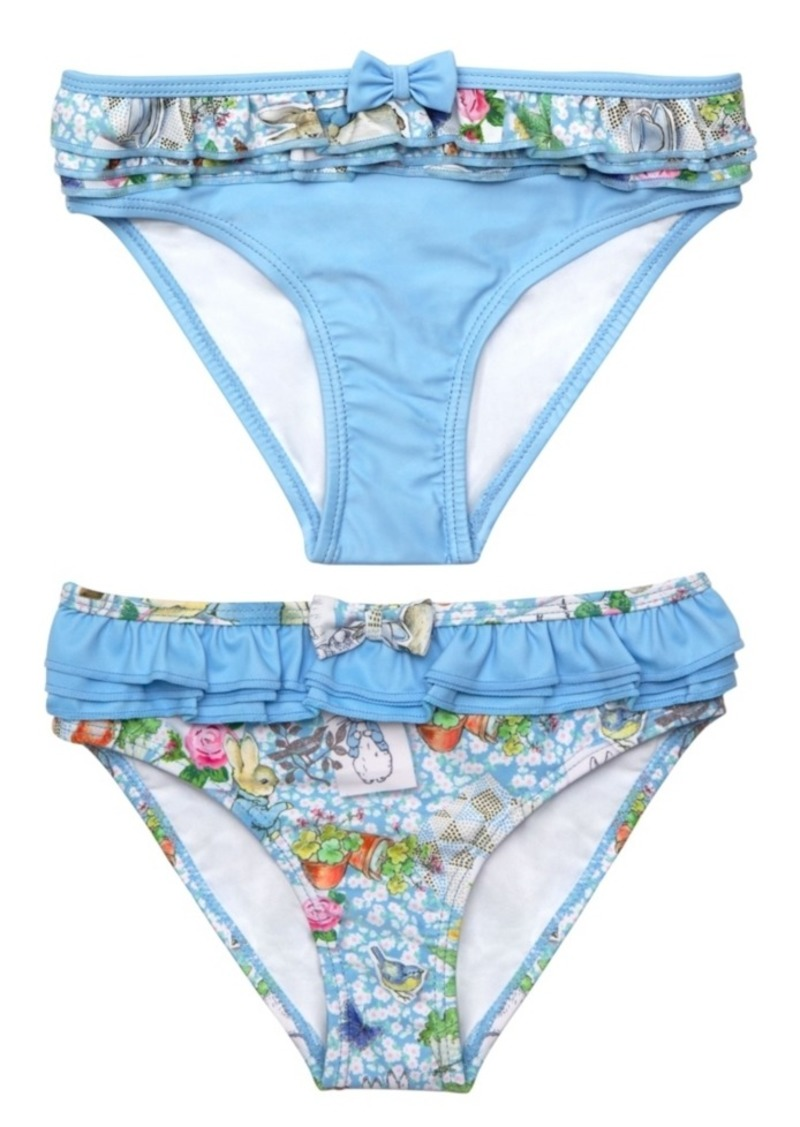 Beatrix Potter Baby Girls Scrapbook Print Frilled Nappy Swimsuit Bottom - Set of 2