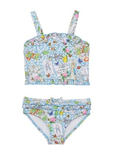 Beatrix Potter Baby Girls Scrapbook Print Shirred Top Two Piece Swimsuit