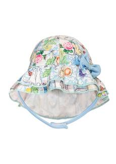 Beatrix Potter Baby Girls Scrapbook Print Sun Hat