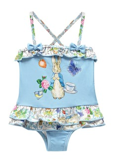 Beatrix Potter Baby Girls Scrapbook Print X-Back Skirted One Piece Swimsuit