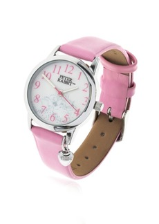 Beatrix Potter Children's Sleeping Bunnies Silver Steel Case and Pink Leather Watch 28mm