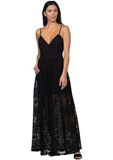 bebe All Over Lace Maxi Dress