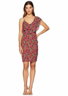 bebe Asymmetric One Shoulder Dress