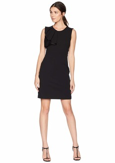 bebe Asymmetrical Ruffle Sheath Dress