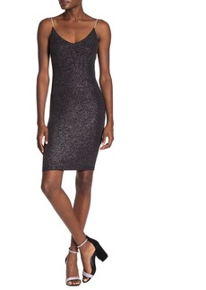 bebe Back Cowl Glimmer Dress