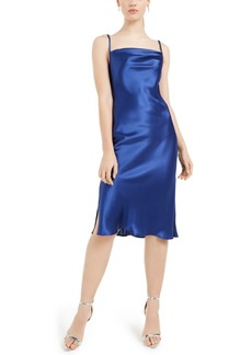 bebe Cowlneck Satin Slip Dress