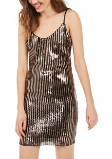 bebe Sequined-Stripe Bodycon Dress