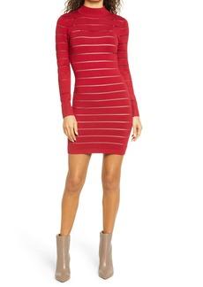 bebe Mock Neck Long Sleeve Sweater Dress