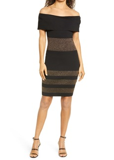 bebe Off the Shoulder Body-Con Dress
