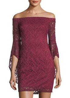 Bebe Off-the-Shoulder Lace Dress
