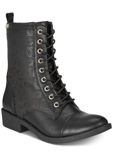 bebe Olsen Lace Up Combat Booties Women's Shoes
