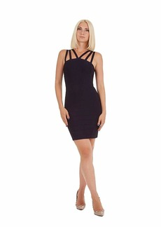 bebe Women's Criss Cross Bandaged Dress  XS