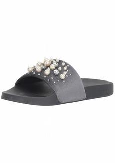 bebe Women's Fenix Slide Sandal  9 Medium US