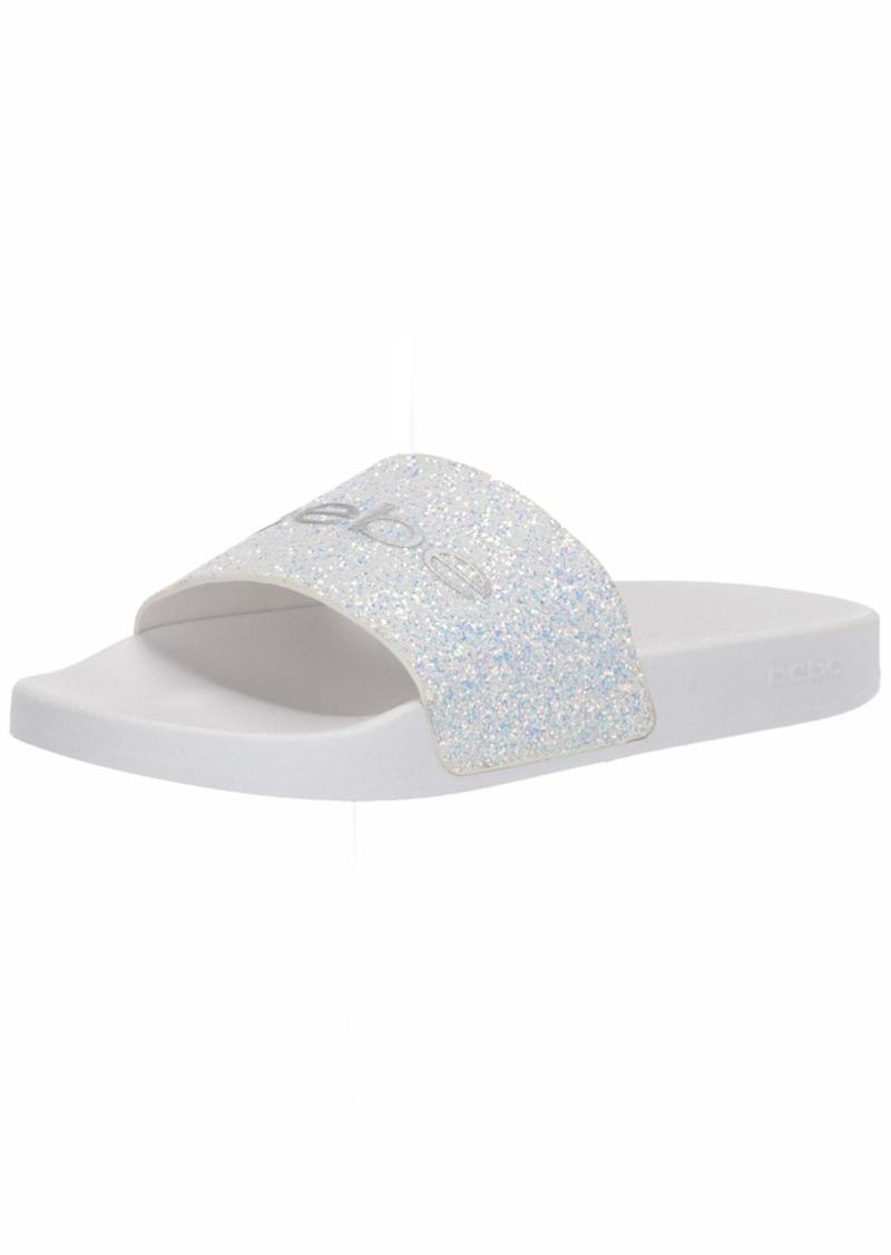 bebe Women's FRAIDA Slide Sandal   Medium US