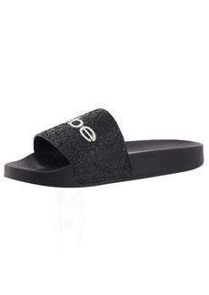 Bebe Women's FRAIDA Slide Sandal black  Medium US