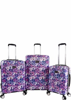 BEBE Women's Gia 3pc Suitcase Set with Spinner Wheels