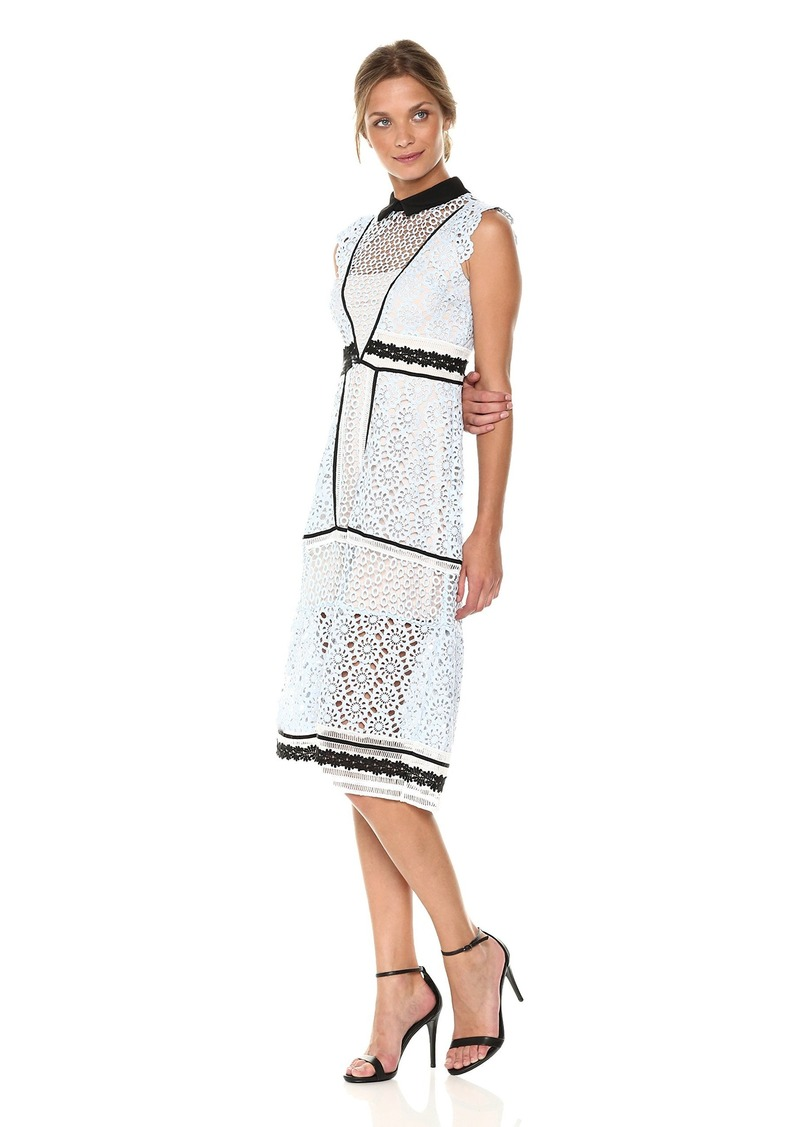 6e2d042a52e bebe bebe Women s Lace Aline Dress with Black Trim and Collar