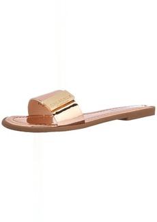 bebe Women's Lania Flat Sandal  6.5 Medium US