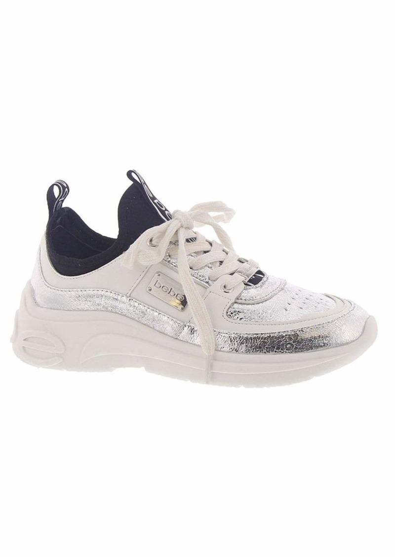 bebe Women's LEALEA Sneaker   Medium US