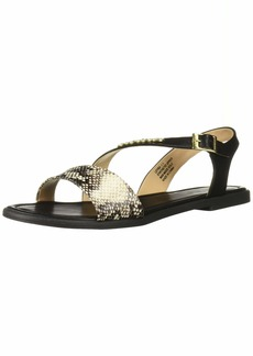 Bebe Women's LEYRA Flat Sandal   Medium US