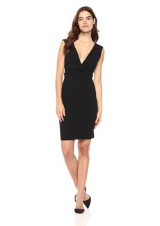 bebe Women's Little  Dress with Plunging Deep V Neckline