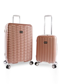 BEBE Women's Lydia 2 Piece Set Suitcase with Spinner Wheels