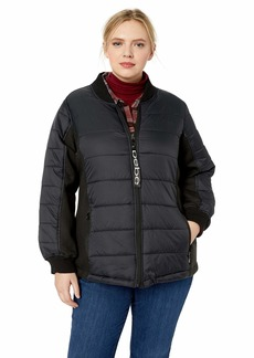 BeBe Women's Outerwear Women's Plus Size Bubble Jacket with Softshell