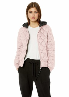 BeBe Women's Outerwear Women's Quilted Bomber Jacket  M