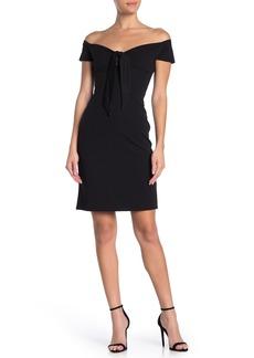 bebe Body Con Halter Dress