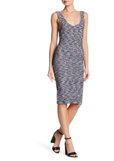 bebe Bodycon Textured Scoop Back Dress