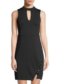 bebe Choker-Neck Bandage Dress