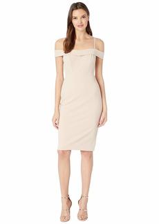 bebe Cold Shoulder Dress w/ Tie Detail