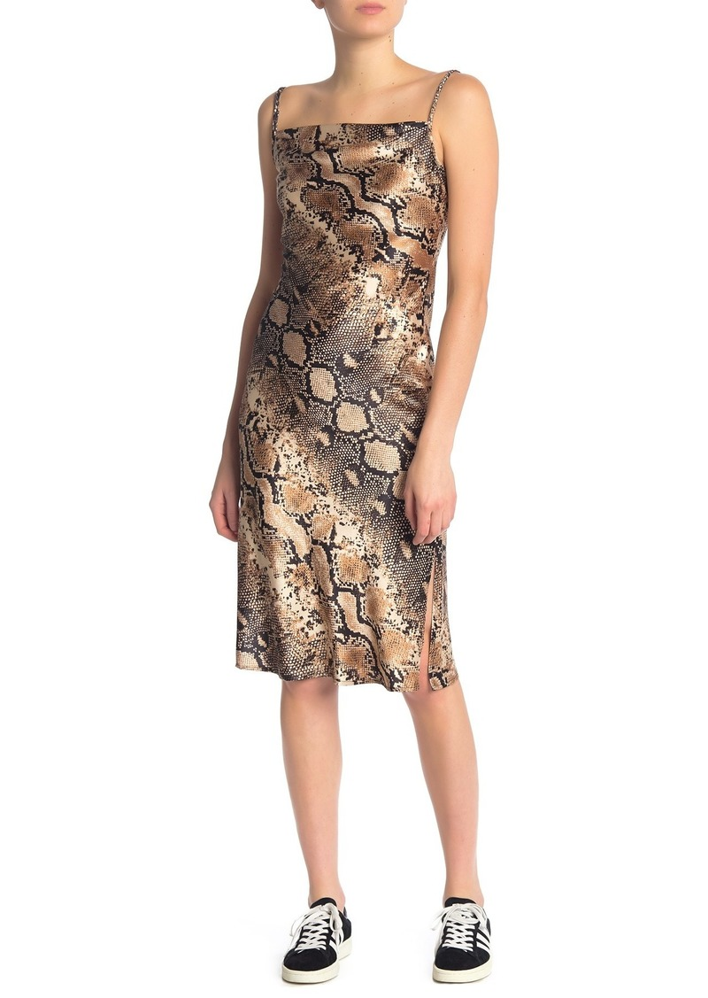 bebe Cowl Neck Sleeveless Printed Dress