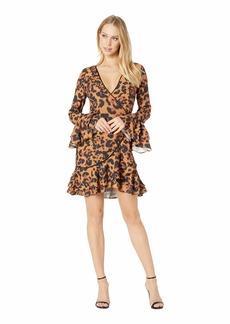 bebe Denise Ruffle Wrap Dress