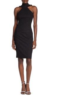 bebe Double Strap Halter Neck Body Con Dress