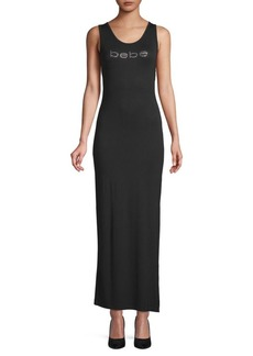 bebe Embellished Logo Sheath Dress