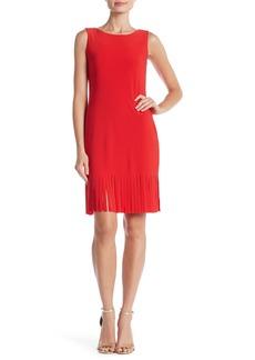 bebe Fringe Hem Solid Dress