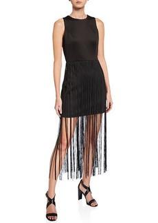bebe Fringe T-Length Sheath Dress